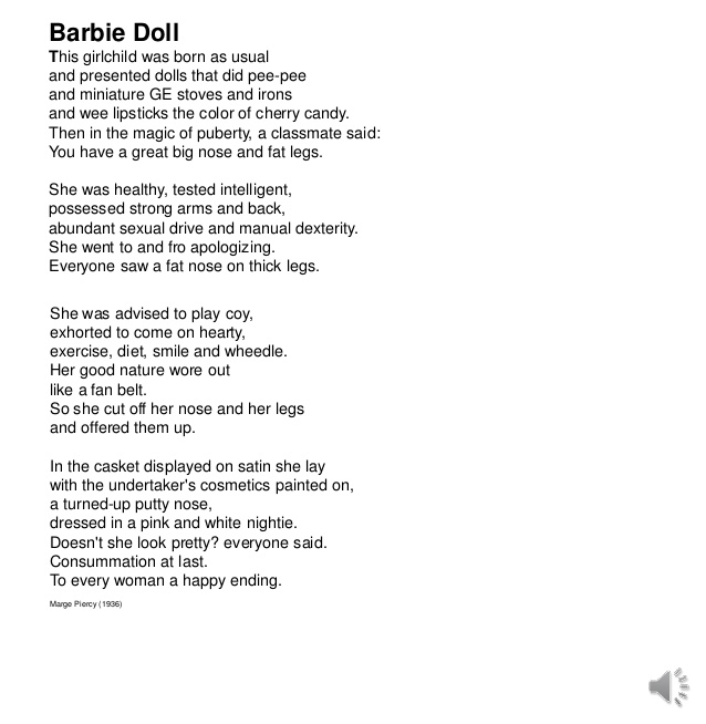 barbie doll marge piercy summary