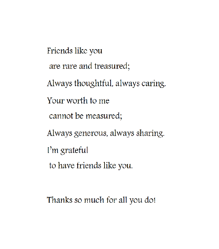 thank you poems