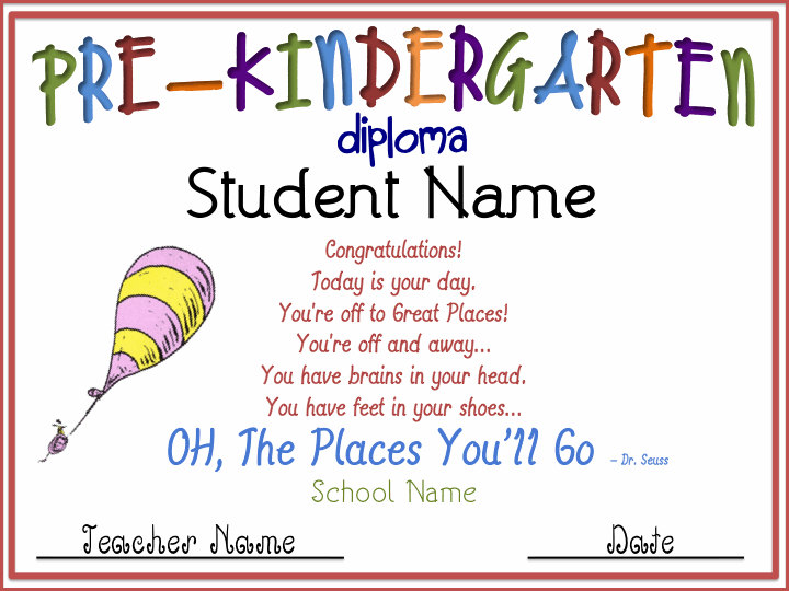 photo regarding Pre Kindergarten Diploma Printable identified as no cost preschool certificates -