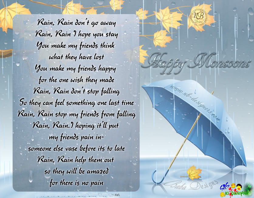 Rainy Day Poems. Mothers Day Quotes In Hindi
