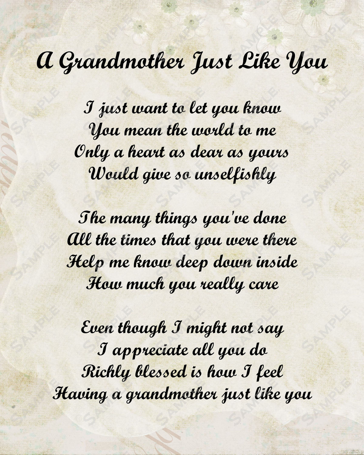 Grandmothers Poems
