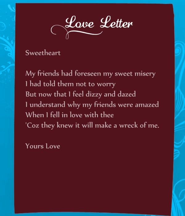 sweetest love letters for her
