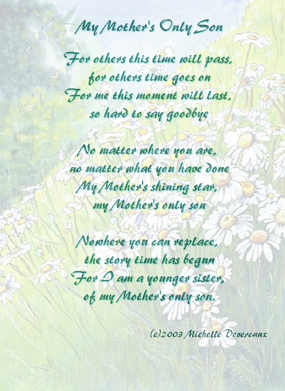 Mother and son Poems