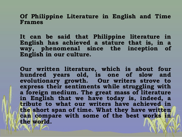 philippine poetry essay Development3 scope of the essay for this reason, this essay will look into the education policy issues in the philippines, focusing on tertiary education, which will directly relate to the socio-economic development of the country.