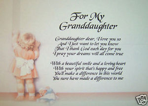 Granddaughter Quotes | Happy Birthday Granddaughter Poems