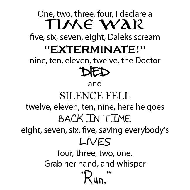 Doctor Who Whisper Men Poem