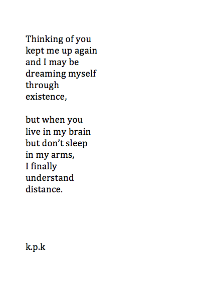 Long Distance Relationship Poems