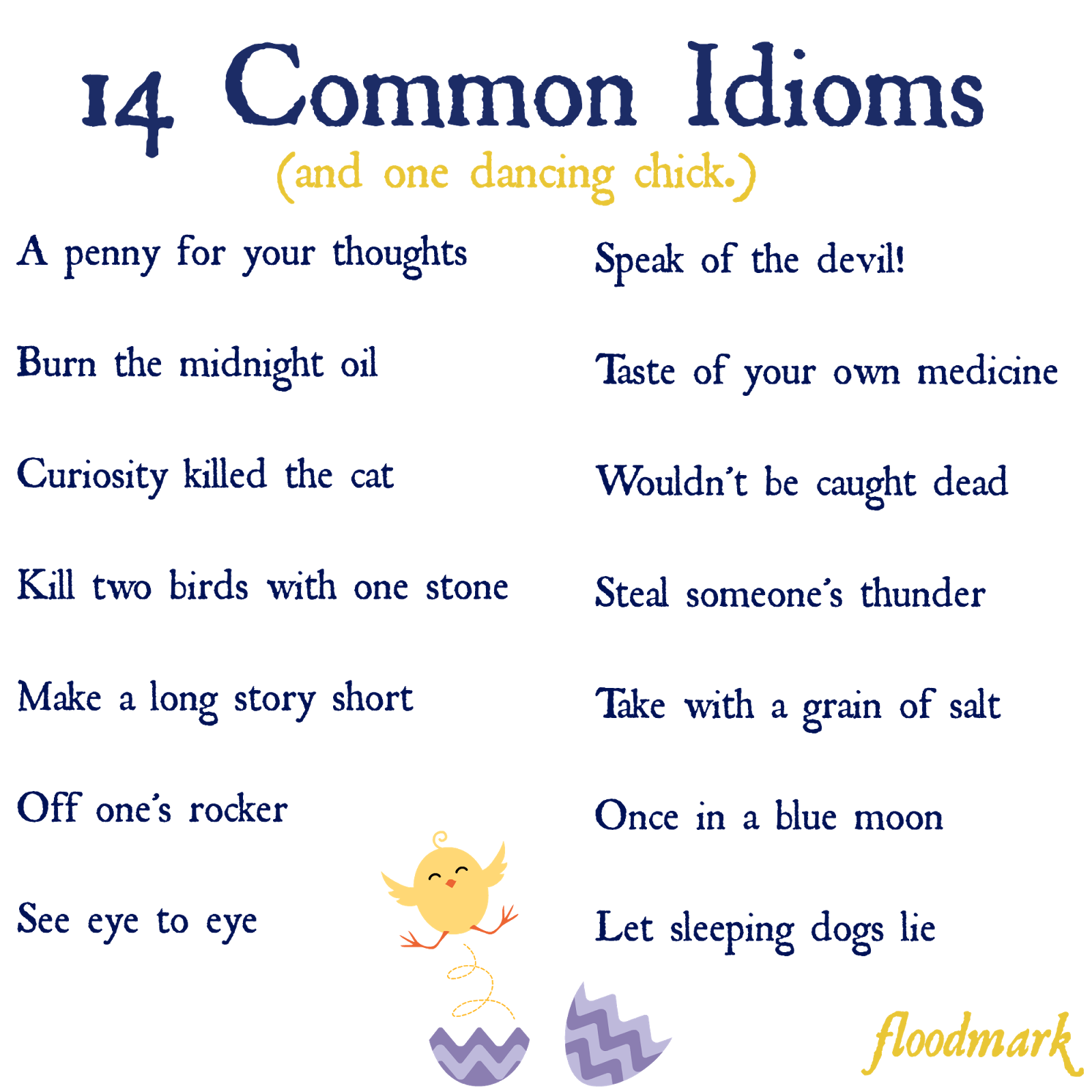 Examples of idioms in poetry youtube.