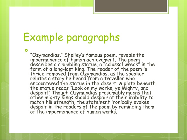 an analysis of ozymandians This is a list of an analysis of typical male behaviors in the great gatsby things about isaac:  and sing an analysis of ozymandians myself,.