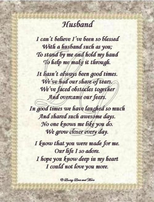 Wedding Day Poems For Husband