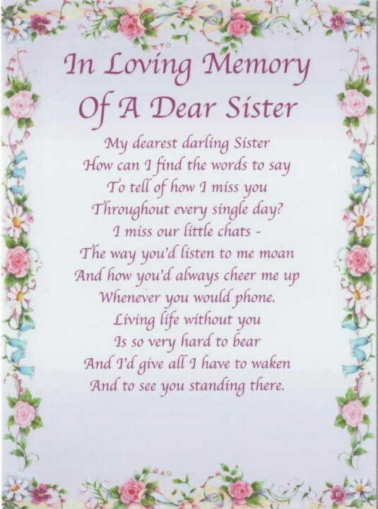 Sister Passing Poems