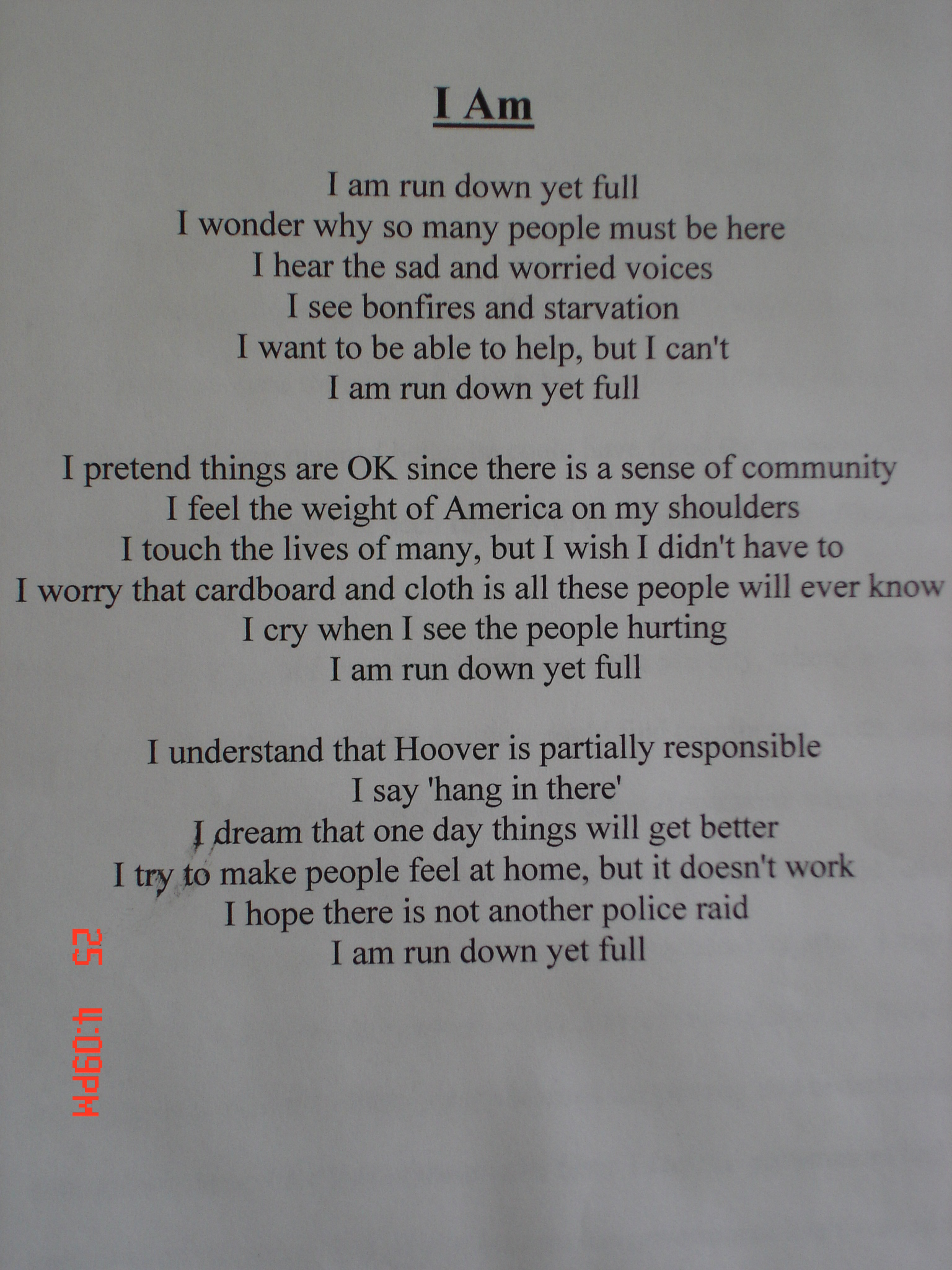 Examples Of I Am Poems