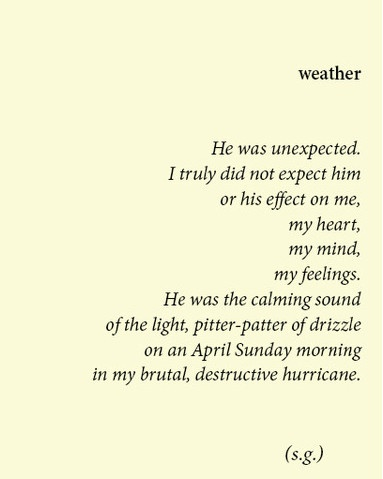 poems about unexpected love