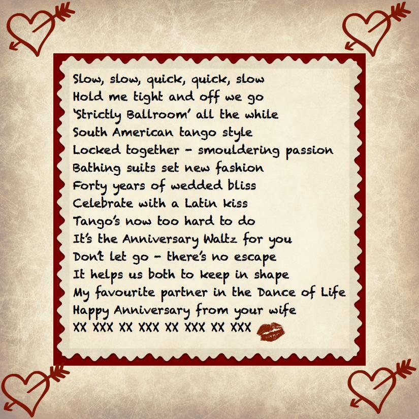 40th anniversary poems - 825×825
