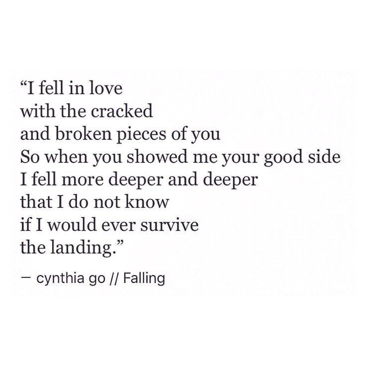 i am falling in love with you poems
