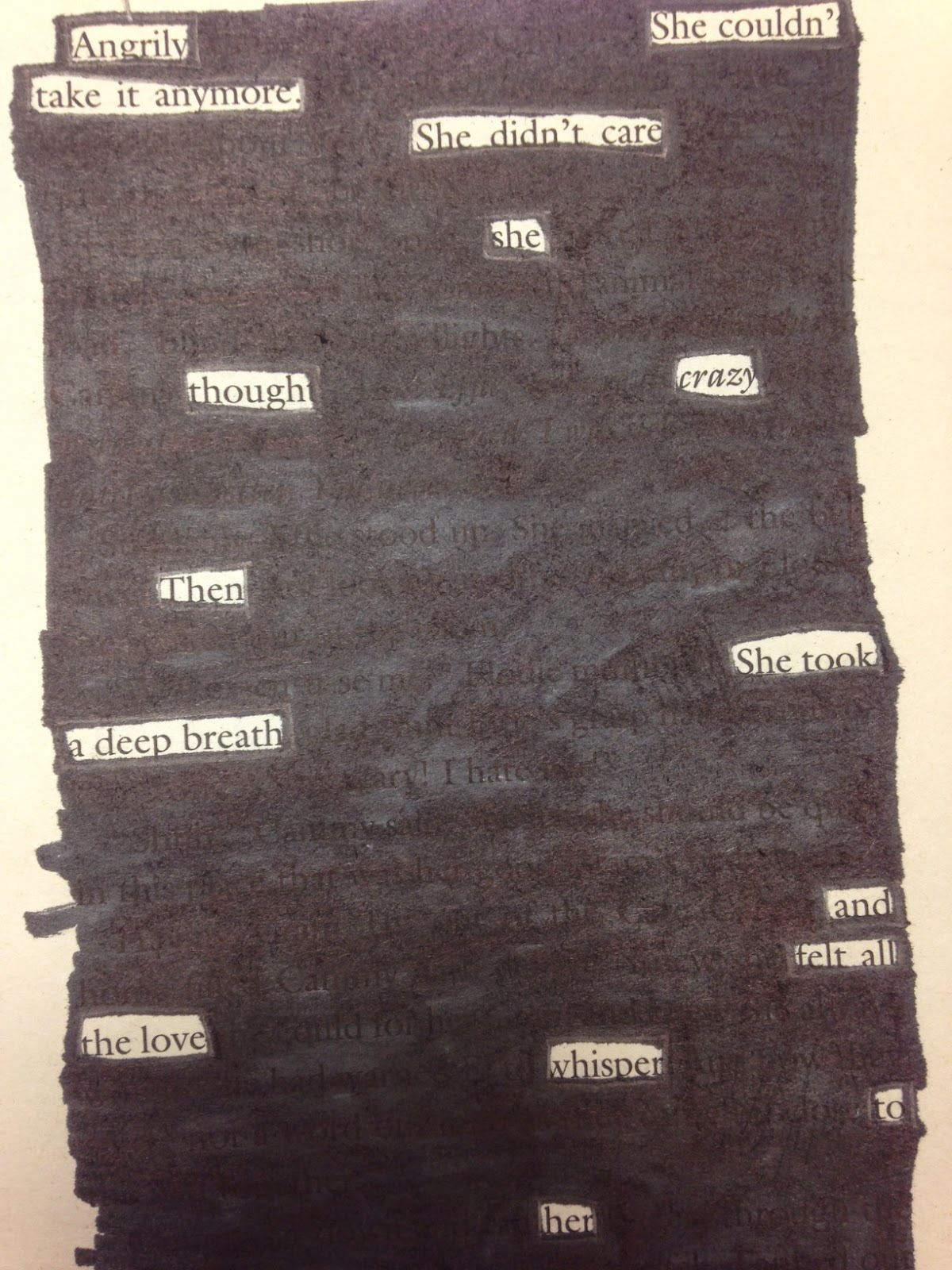 blackout poems. Black Bedroom Furniture Sets. Home Design Ideas