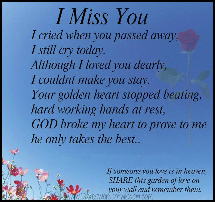 Missing those in heaven quotes