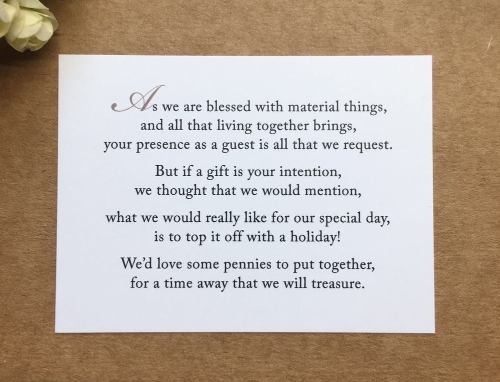Funny Poems For Wedding Invitations Asking Money Wedding