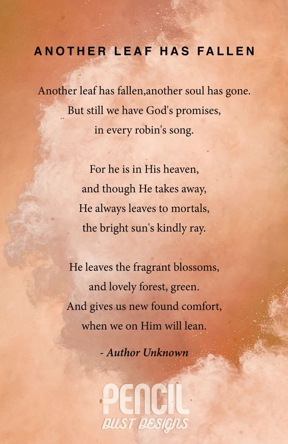 Christian Funeral Poems