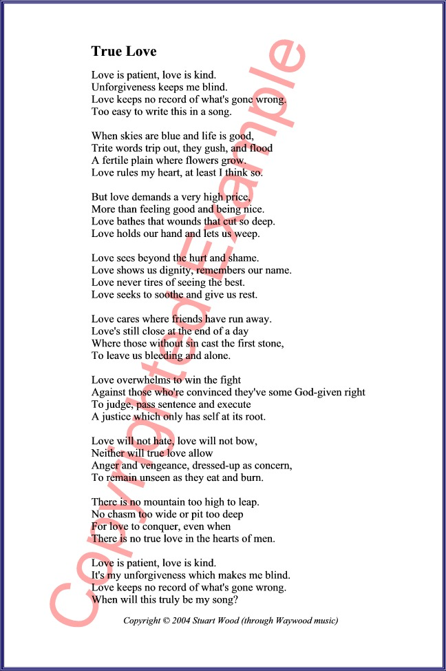 10 examples of poems