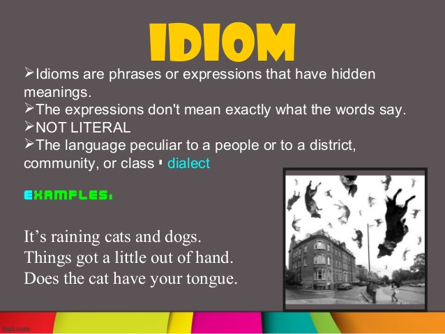 Idiomatic poems.