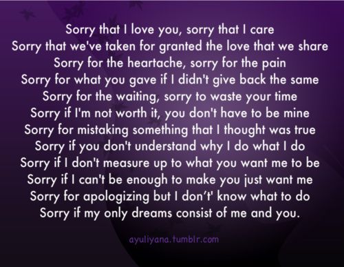 Imágenes De Im Sorry And Love You Quotes