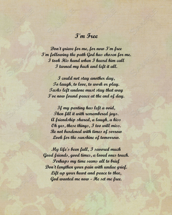 Free funeral Poems