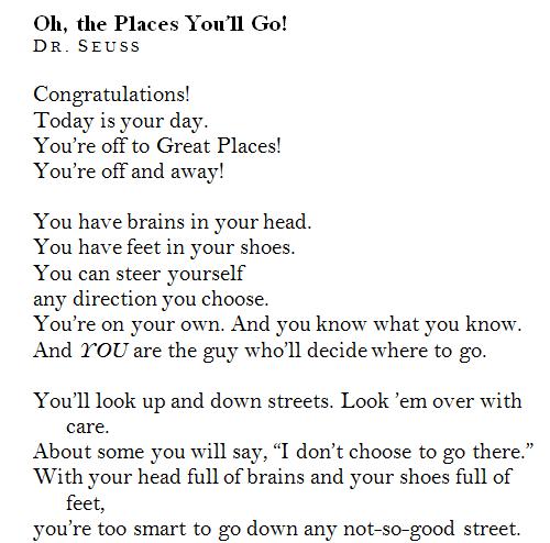 Short Dr Seuss Poems
