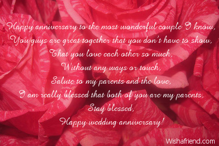 Parents anniversary poems