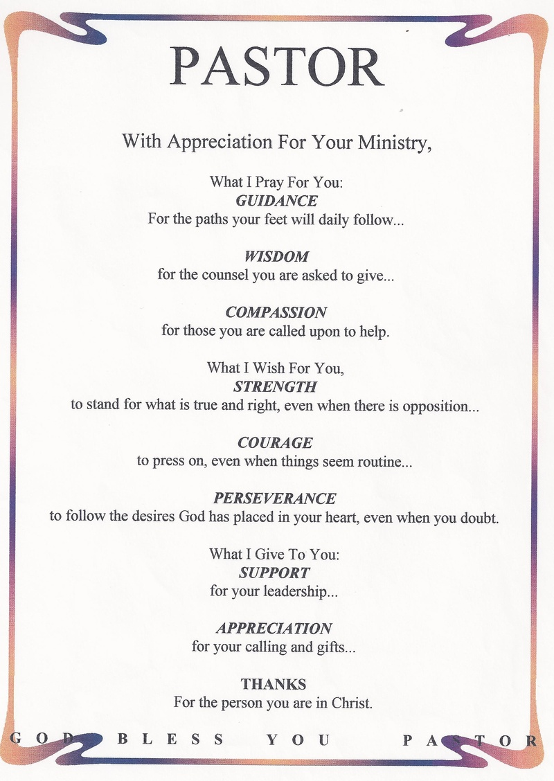 Pastor Appreciation Quotes Pastor appreciation Poems Pastor Appreciation Quotes