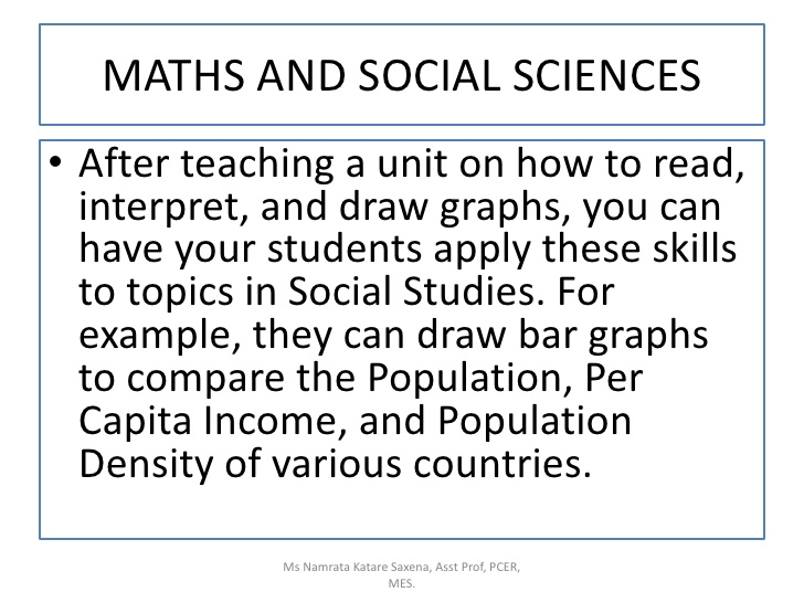 relation and use of maths in other subjects A number of ways in which mathematics is used in geography are mentioned plane euclidean geometry is used in surveying small areas in the field, while spherical geometry and trigonometry are required in the construction of map projections, both traditional elements of mathematical geography in the.