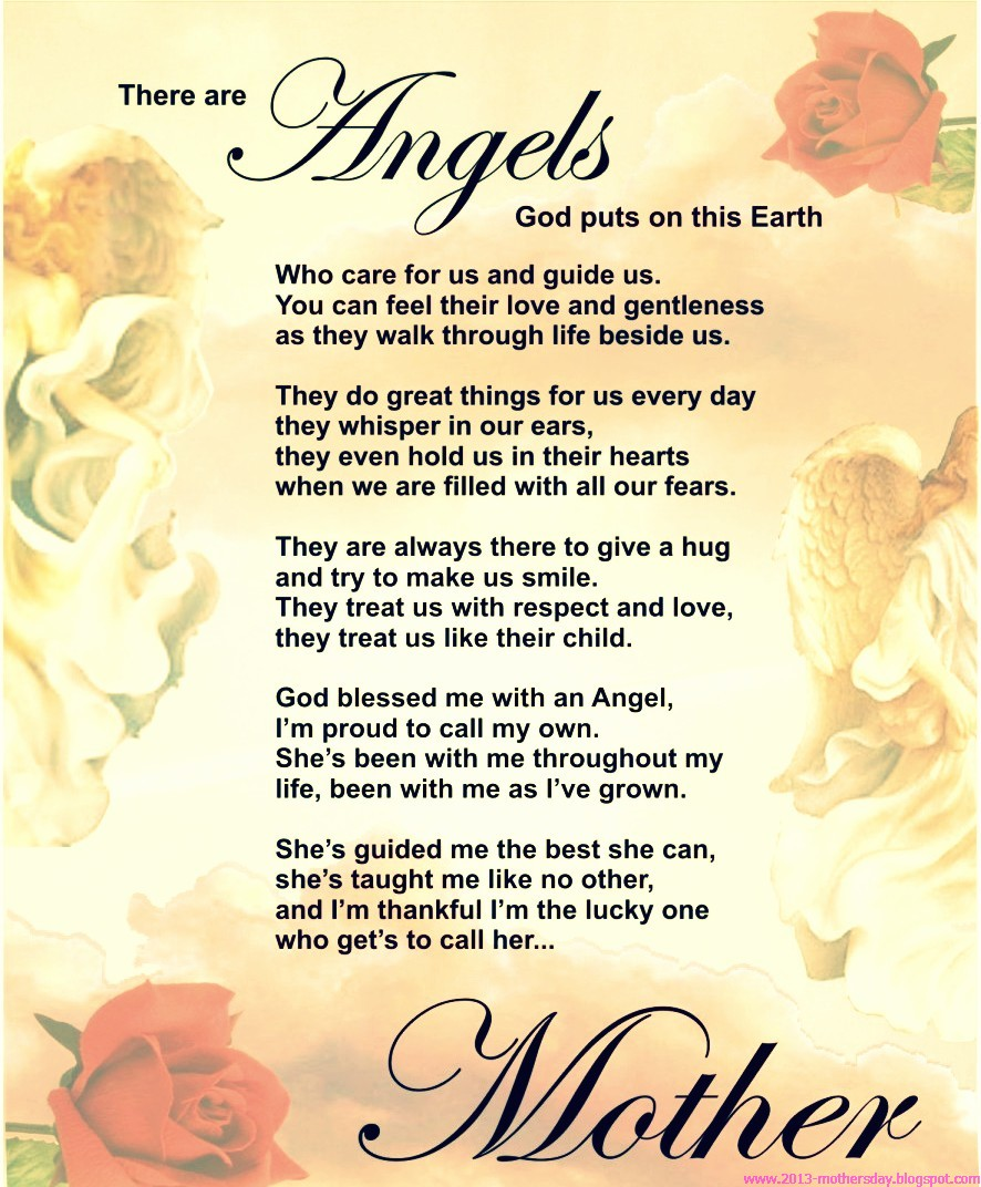 happy mothers day in heaven poems