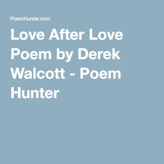 Derek walcott Poems