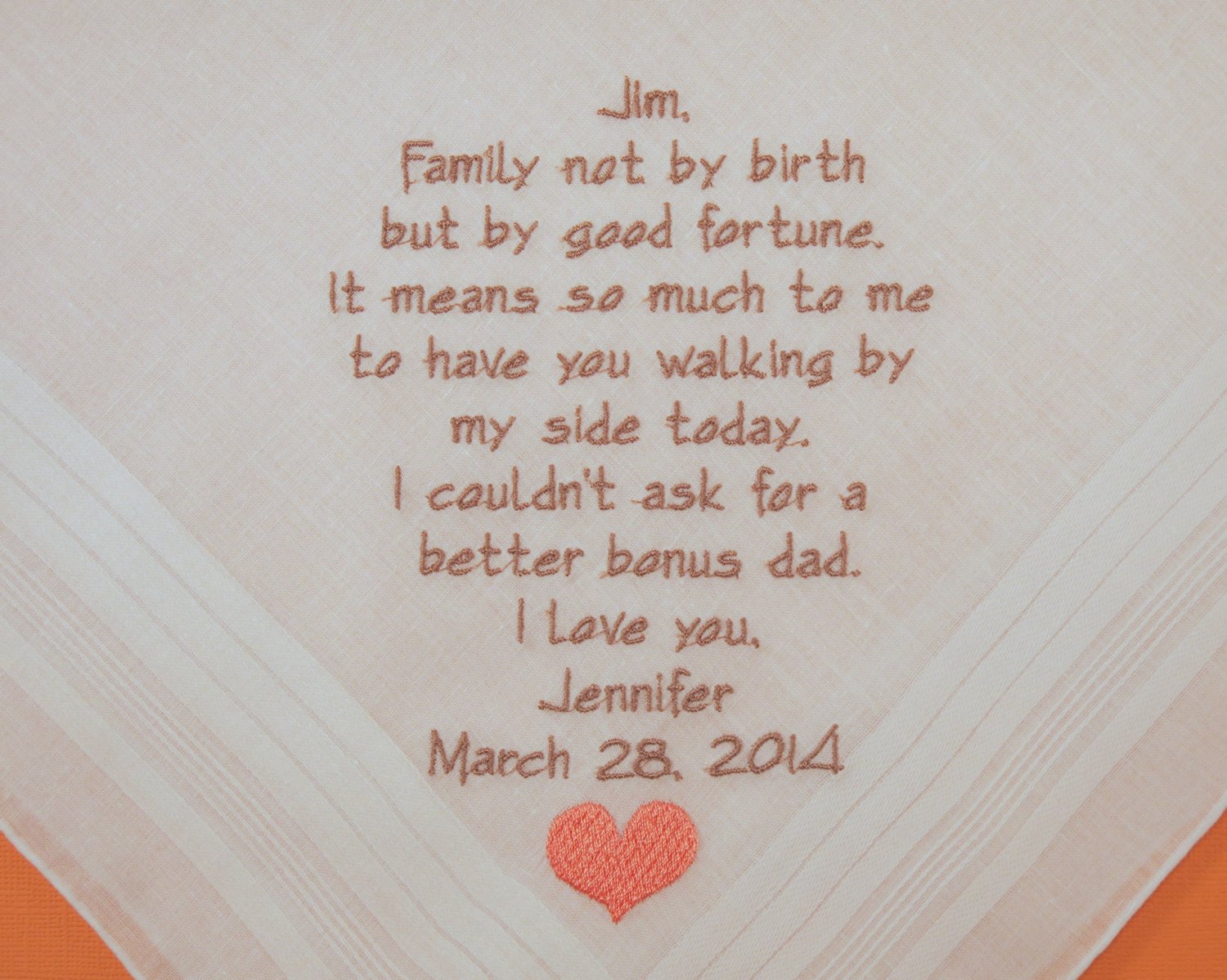 Step Father Of The Bride Saying Personalized Wedding