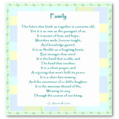 Family And Friends Poems