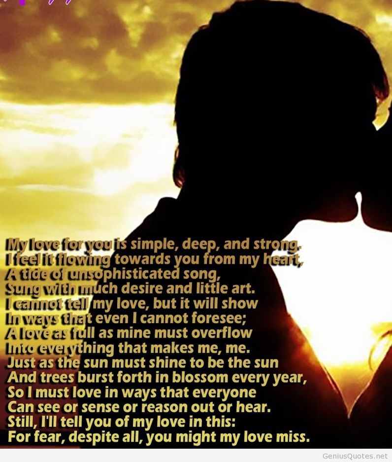 Short Sweet I Love You Quotes: Emotional Love Poems
