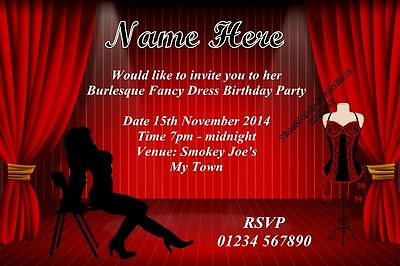 Burlesque Themed Invitations Cobypic