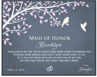 Maid Of Honor Sister Etsy