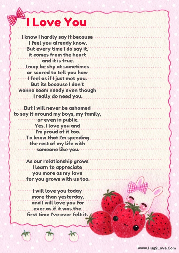 Sweet I Love You Poems