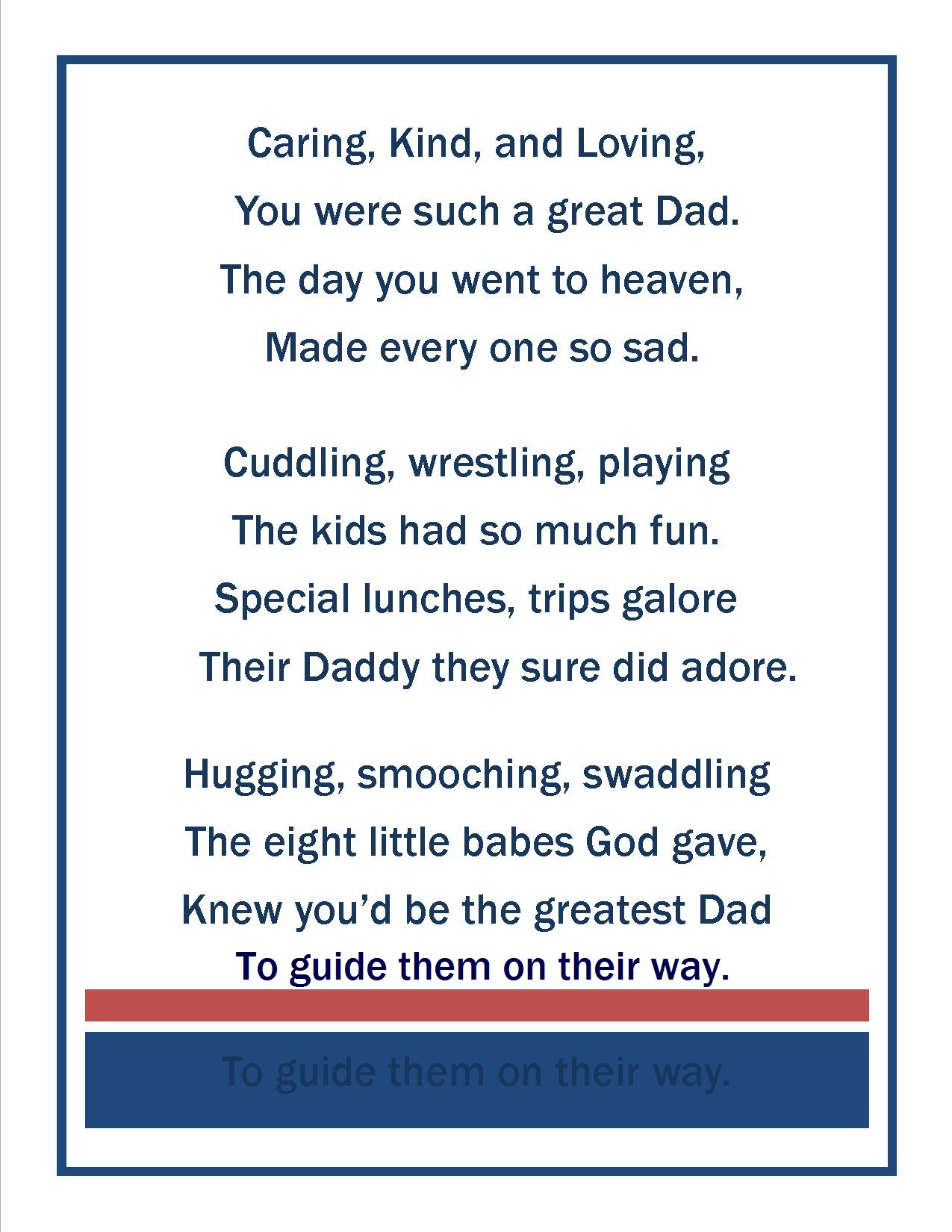 Happy Fathers Day To My Husband Poems