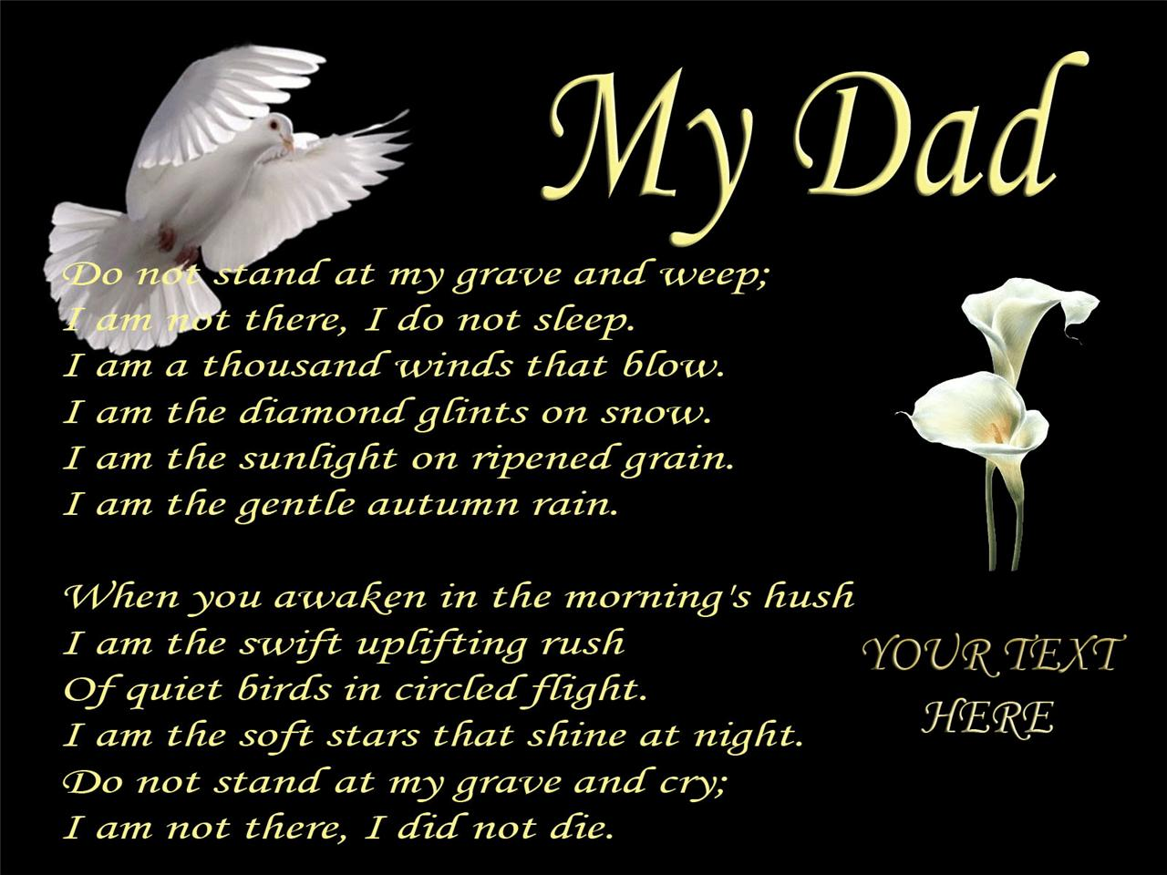 Dad Funeral Poems