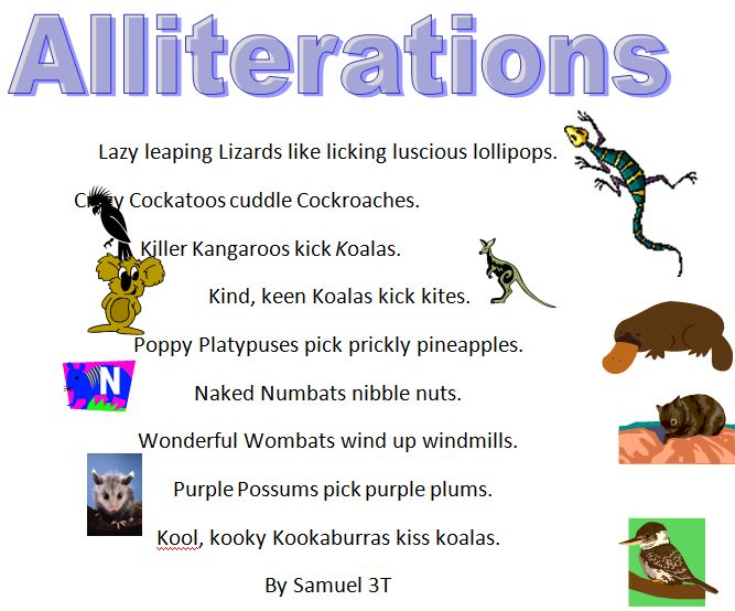 Examples Alliteration Poems