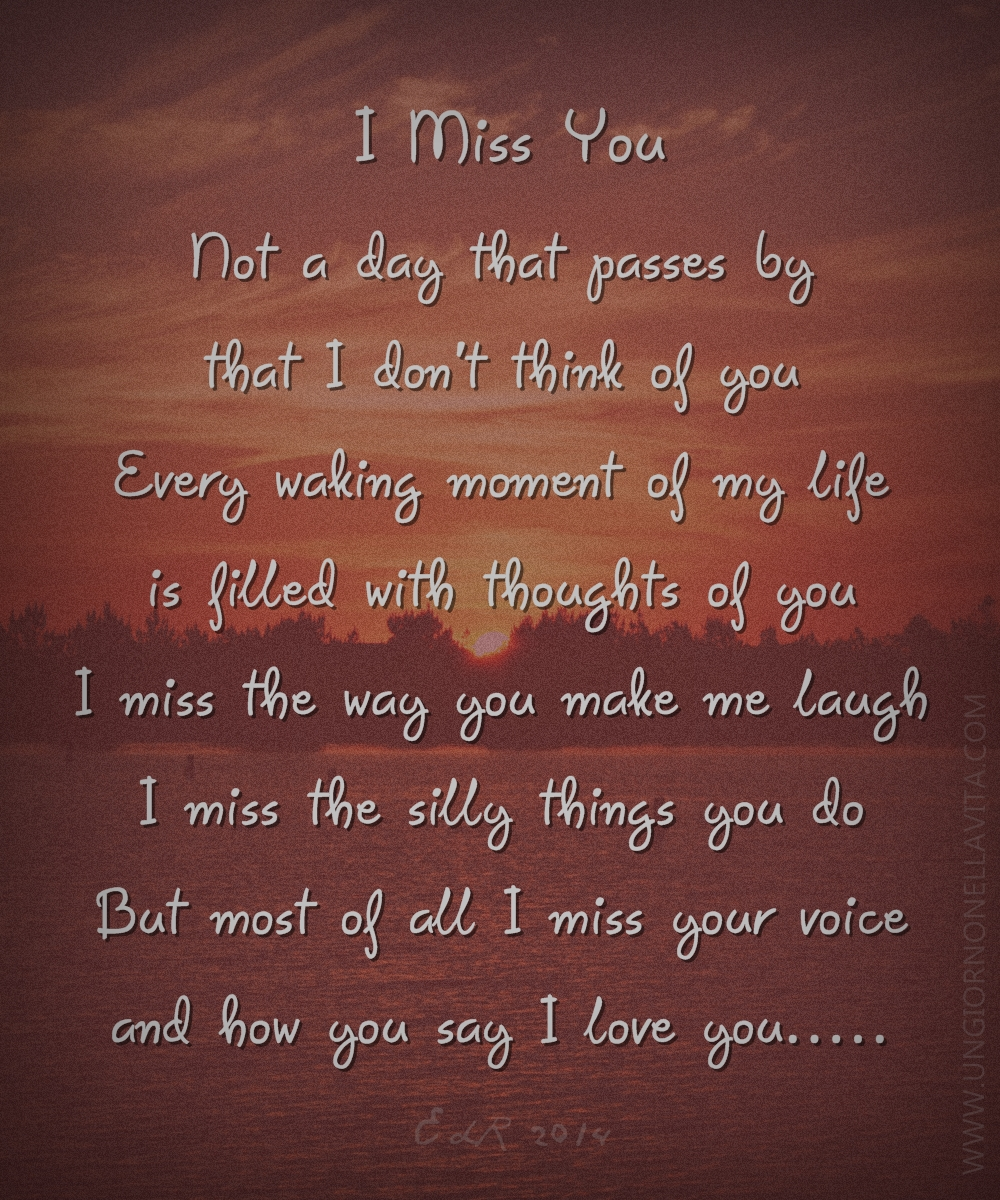 I Miss You Love Poems