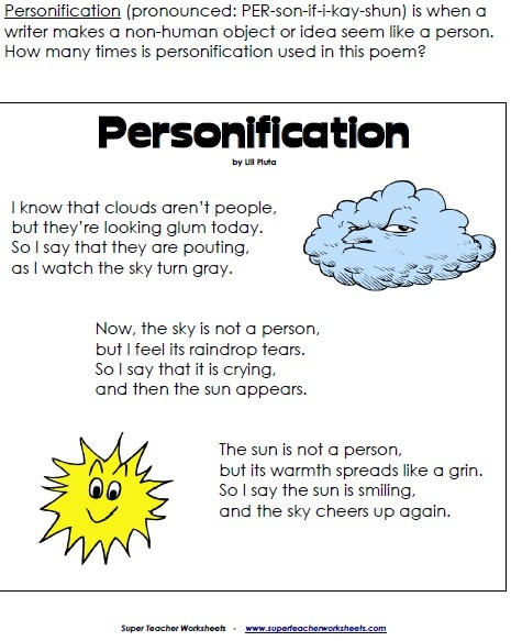 Personification Poems