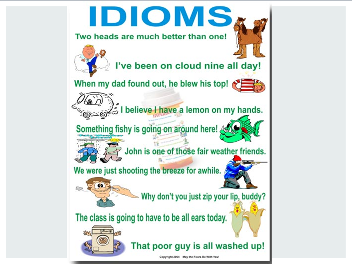 Examples Of Idioms With Pictures Choice Image Example Cover Letter