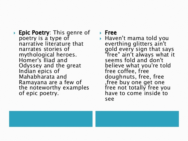 Examples Of Epic Poems