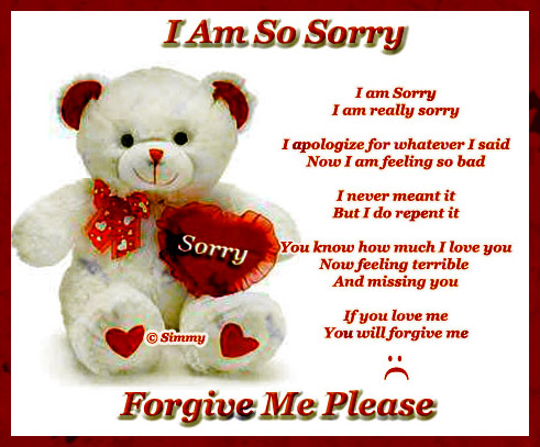 Apology poem for girlfriend | Sorry Verses Poems Quotes