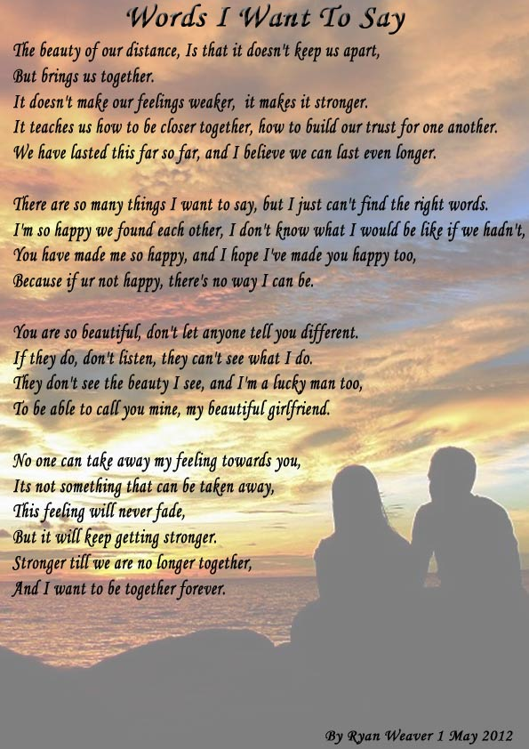 I want to be with you Poems