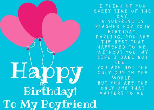 Romantic Happy Birthday S For Boyfriend LOVE POETRY