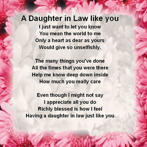 Future Daughter In Law Quotes | Future Daughter In Law Poems